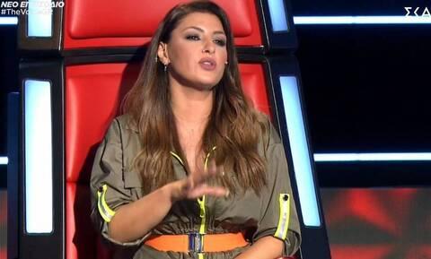 Χαμός στο Voice: Η άβολη στιγμή της Έλενας Παπαρίζου - Δείτε τι συνέβη