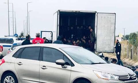 Θρίλερ στην Ξάνθη: Εντοπίστηκε φορτηγό κοντέινερ με περισσότερους από 80 μετανάστες (pics&vid)