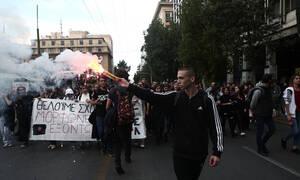 ΤΩΡΑ: Επεισόδια στο κέντρο της Αθήνας στο μαθητικό συλλαλητήριο