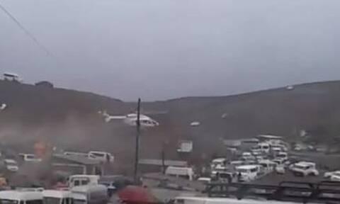 Στιγμές τρόμου για τον πρόεδρο της Βολιβίας: Αναγκαστική προσγείωση του ελικοπτέρου του (vid)