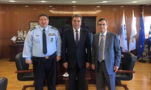 Συνάντηση Κόνσολα και Οικονόμου με τον Αρχηγό της Ελληνικής Αστυνομίας