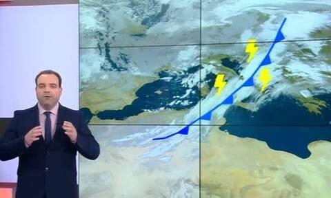 Καιρός: «Ερχεται... λαίλαπα καταιγίδας». Τεράστια προσοχή συνιστά ο Κλέαρχος Μαρουσάκης (video)