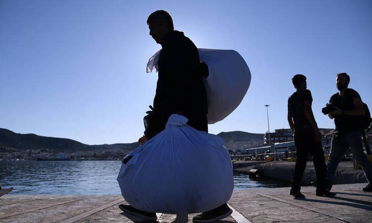 Στον Πειραιά 168 πρόσφυγες και μετανάστες από Μυτιλήνη και Χίο