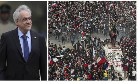 Χιλή: Επιχείρηση «κατευνασμού« από τον Πινιέρα - Υπέγραψε αύξηση του κατώτατου μισθού