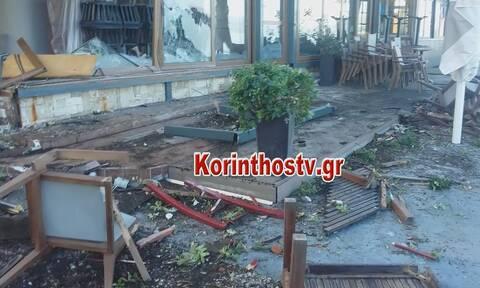 Σοκαριστικό τροχαίο στο Λουτράκι: Πήρε «σβάρνα» τρία μαγαζιά