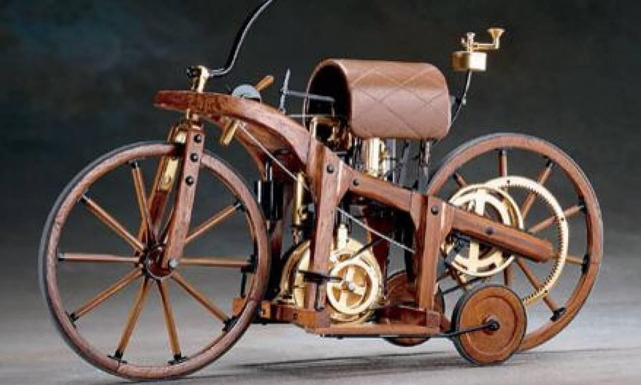 Σαν σήμερα το 1885 κατασκευάστηκε η πρώτη μοτοσικλέτα