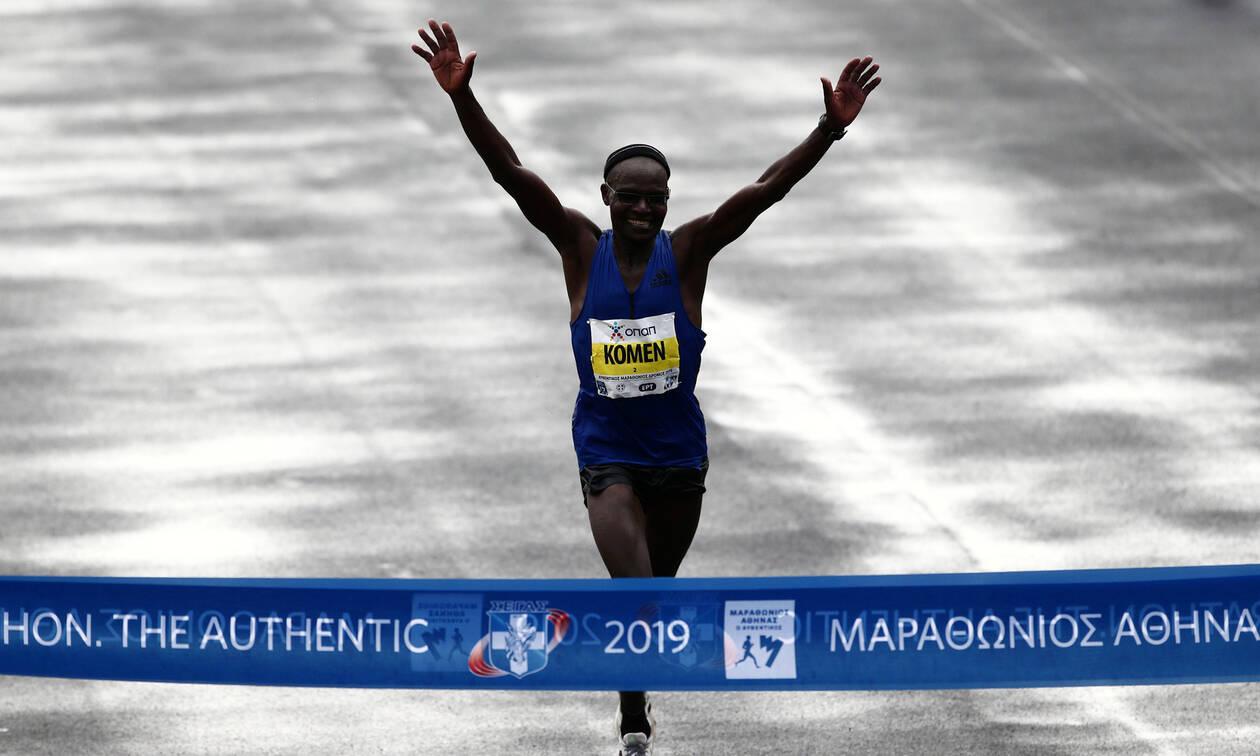 37ος Αυθεντικός Μαραθώνιος Αθήνας: Ο Κενυάτης Τζον Κιπκορίρ Κόμεν είναι ο μεγάλος νικητής