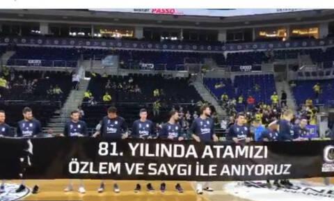 Άγρια επίθεση Τούρκων σε Σλούκα για το πανό με τον Κεμάλ Ατατούρκ - Οι αντιδράσεις και η εξήγηση