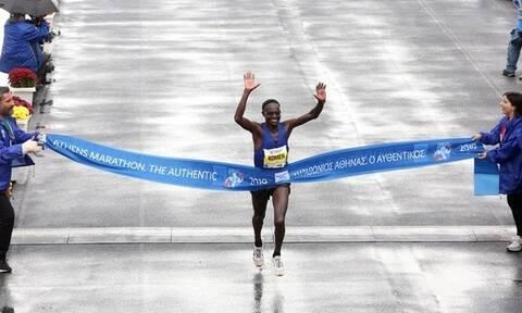 Кениец Джон Кипкорир Комен стал победителем Афинского марафона