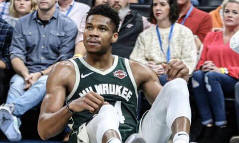 NBA: Εκτός εαυτού ο Γιάννης! Έσκισε τη φανέλα του και έσπασε πινακίδα (video)