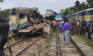 Τραγωδία στο Μπανγκλαντές: Μετωπική σύγκρουση τρένων - Τουλάχιστον 16 νεκροί