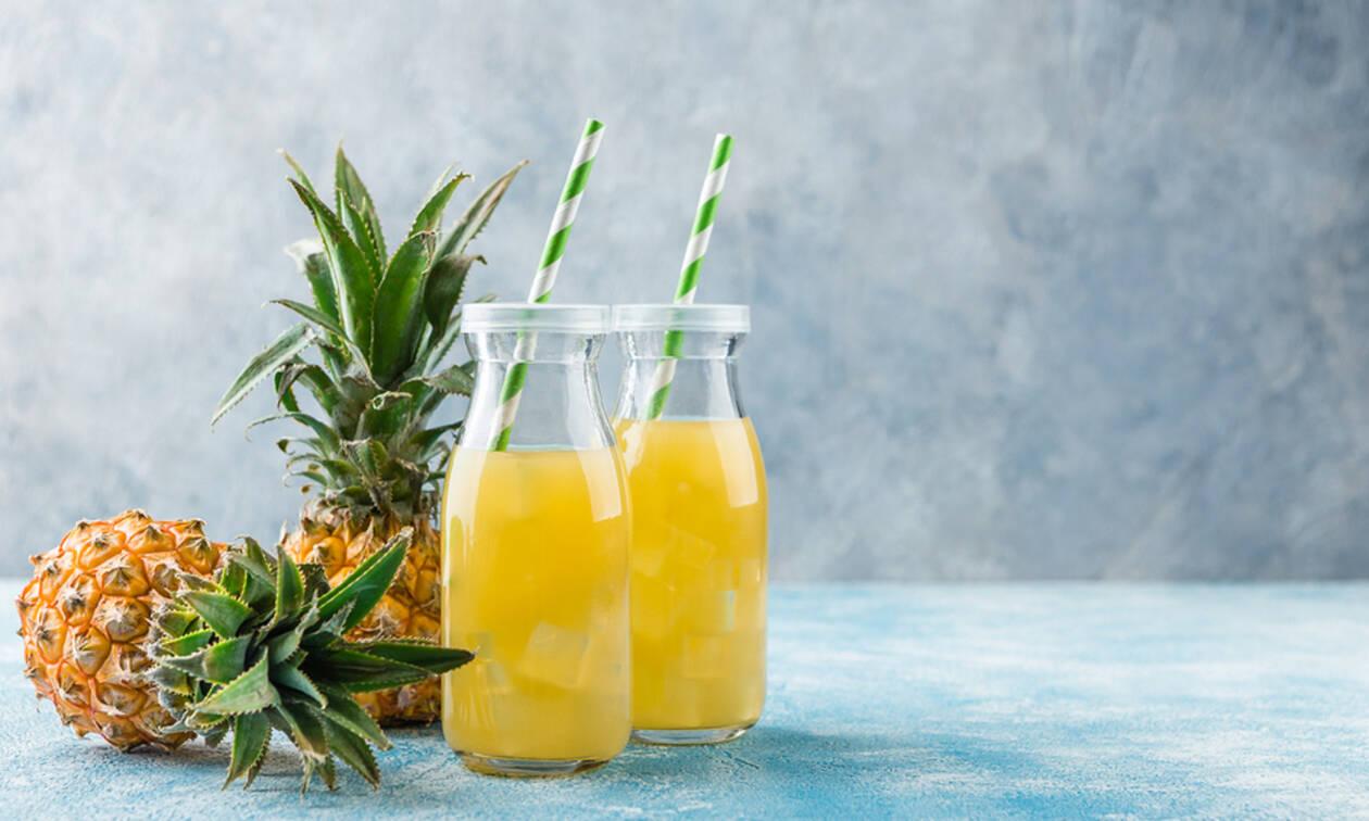 Χυμός ανανά: Τα εκπληκτικά οφέλη του για την υγεία (εικόνες)
