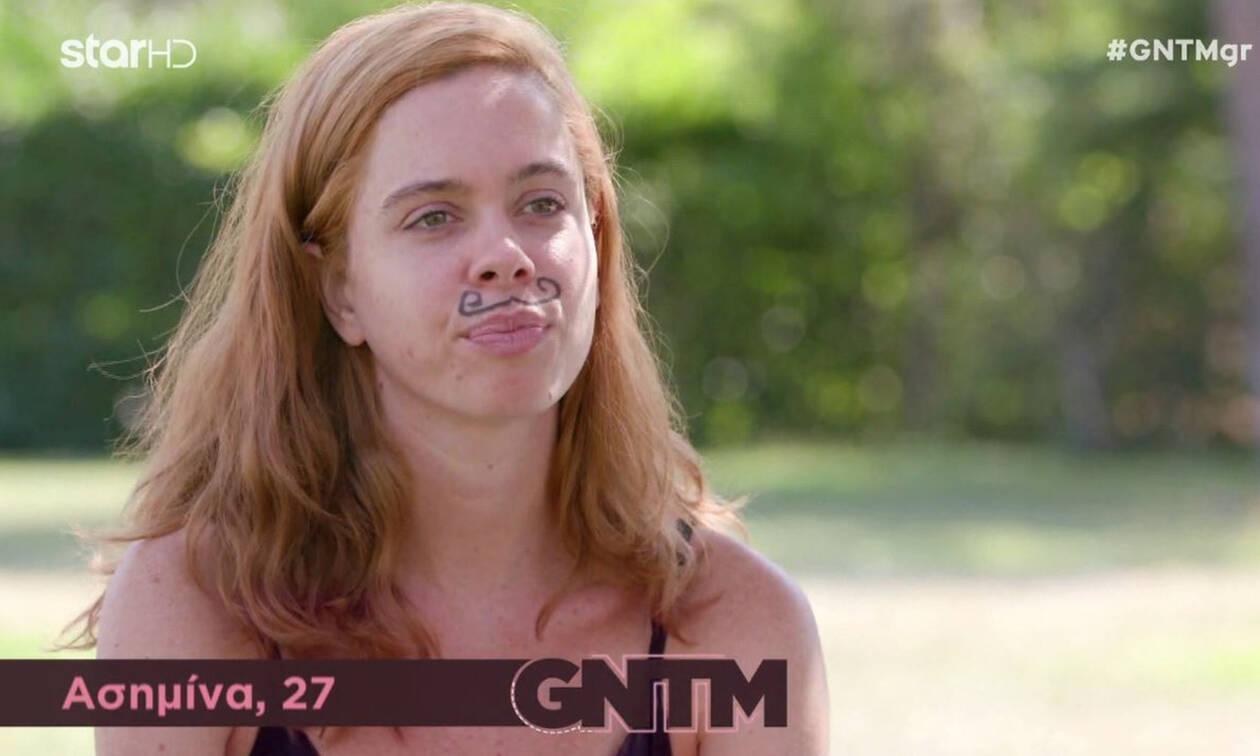 GNTM: Η Ασημίνα εμφανίστηκε με... μουστάκι - Τι συνέβη; (Photos-Video)
