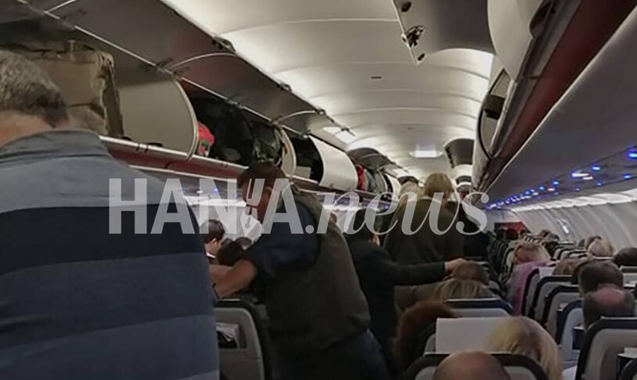 Κακοκαιρία - Ηράκλειο: Θρίλερ στον αέρα με αεροπλάνο της Aegean