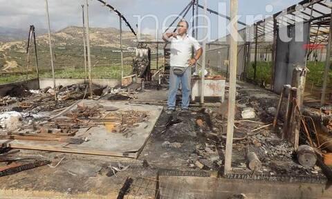 Κακοκαιρία - «Βικτώρια»: Κεραυνός «εξαφάνισε» αποθήκη στην Ιεράπετρα