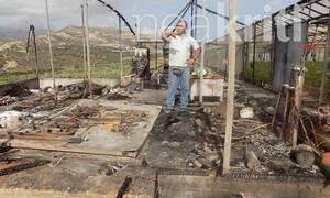 Κακοκαιρία «Βικτώρια»: Κεραυνός «εξαφάνισε» αποθήκη στην Ιεράπετρα