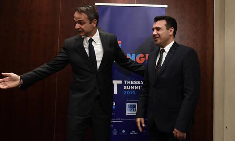 Μητσοτάκης σε Ζάεφ: Προϋπόθεση για την ευρωπαϊκή σας πορεία η τήρηση της συμφωνίας των Πρεσπών