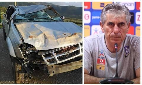 Τροχαίο για τον Άγγελο Αναστασιάδη: Απίστευτες εικόνες από το ατύχημα
