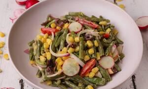 Συνταγή για πεντανόστιμη σαλάτα με φασολάκια