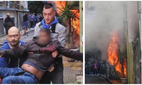 Συγκλονιστικές εικόνες από τη φωτιά στην Κυψέλη – Πληροφορίες για τραυματίες