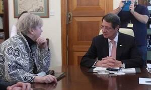 Συνάντηση Αναστασιάδη - Λουτ στο Προεδρικό