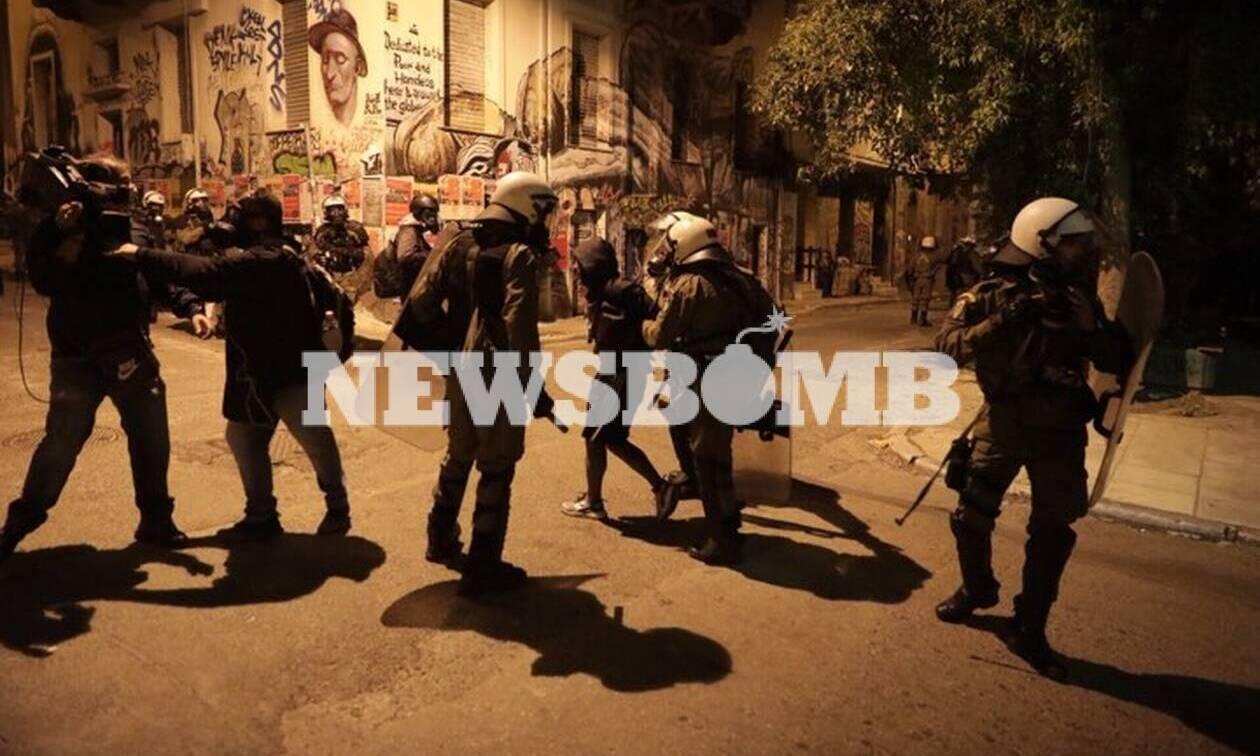 Επεισόδια στα Εξάρχεια: 28 συλλήψεις και 41 προσαγωγές