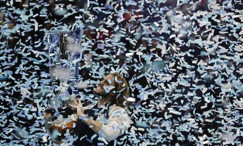Ο θρίαμβος του Στέφανου Τσιτσιπά μέσα από τον φωτογραφικό φακό