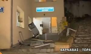 Βαρνάβας: Ανατίναξαν το μοναδικό ΑΤΜ της περιοχής (vid)
