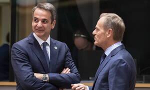 Συγχαρητήρια Μητσοτάκη στον Τουσκ για την εκλογή του στην προεδρία του ΕΛΚ