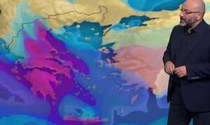 Καιρός: Προσοχή από την Κυριακή! Η ενημέρωση του Σάκη Αρναούτογλου για τη νέα κακοκαιρία (video)