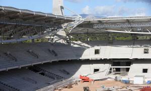 Εντυπωσιακά πλάνα από το νέο γήπεδο της ΑΕΚ στη Νέα Φιλαδέλφεια
