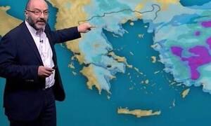 Καιρός: Η έκτακτη ενημέρωση του Σάκη Αρναούτογλου για το... φουριόζικο βαρομετρικό χαμηλό (video)