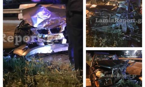 Οικογενειακή τραγωδία στη Λαμία: Εικόνες-σοκ από το φρικτό τροχαίο – Νεκρός ο 37χρονος πατέρας