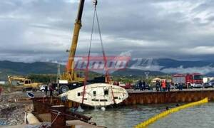 Τραγωδία στο Αντίρριο: Επιχείρηση ανέλκυσης του ιστιοφόρου - Νεκροί οι δύο επιβάτες