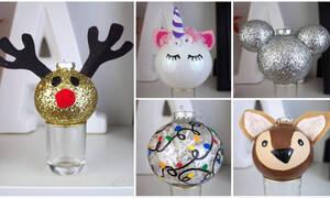 Επτά εύκολα χριστουγεννιάτικα στολίδια που μπορείτε να φτιάξετε μόνοι σας (vid)