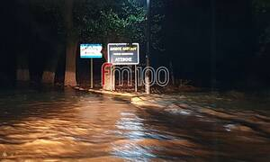Κακοκαιρία «Γηρυόνης»: Προβλήματα από τη βροχή στη Λήμνο - Πλημμύρισαν χωριά (vids+pics)
