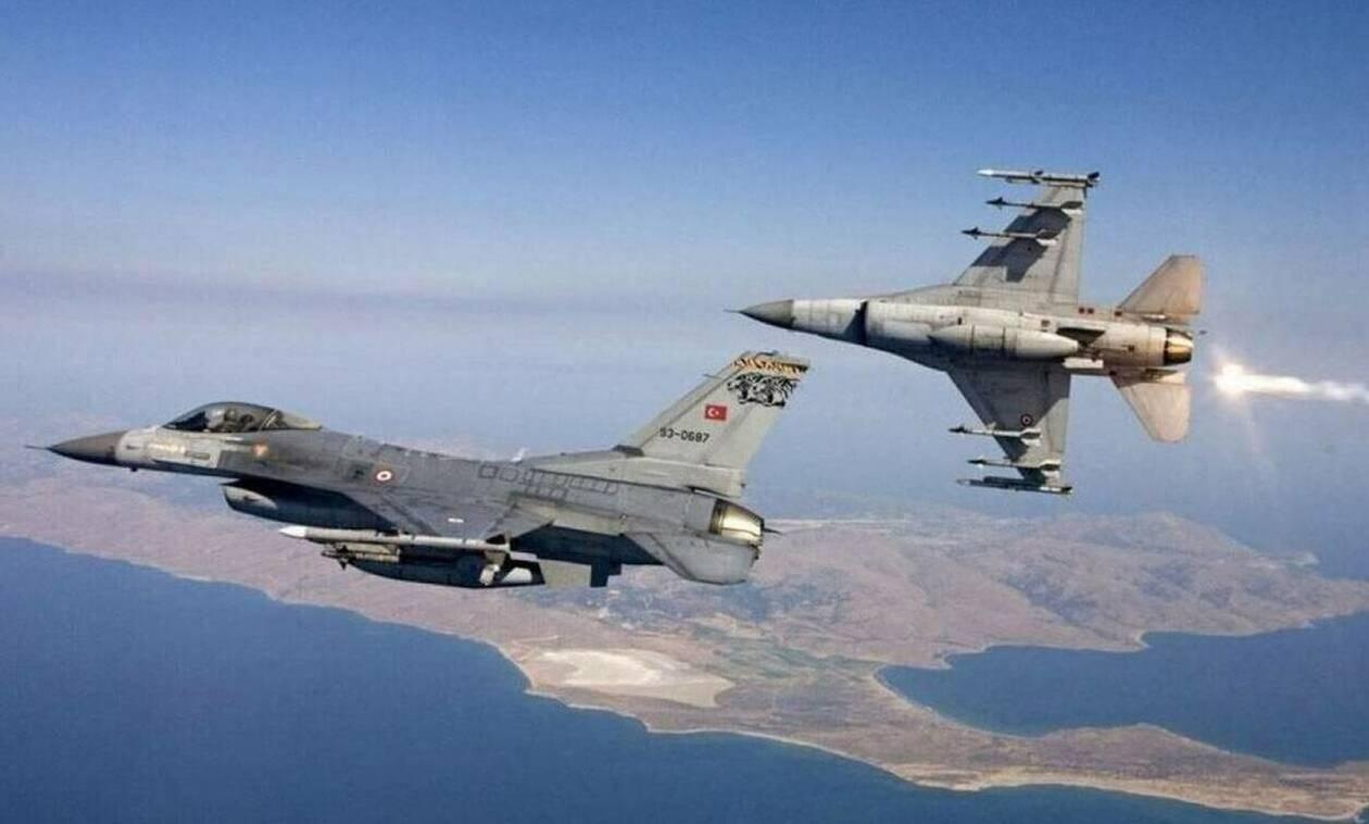 Συναγερμός στο Αιγαίο: Τουρκικά μαχητικά πάνω από Μακρονήσι και Ανθρωποφάγους