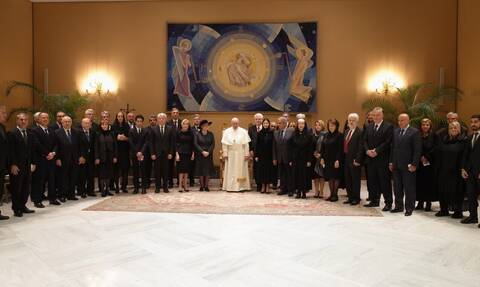 Η Μαριάννα Βαρδινογιάννη στο Βατικανό - Συναντήθηκε με τον πάπα Φραγκίσκο (pics)