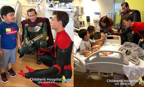 Ο Spiderman και οι φίλοι του επισκέφθηκαν παιδιατρικό νοσοκομείο & το βίντεο έγινε viral (vid)