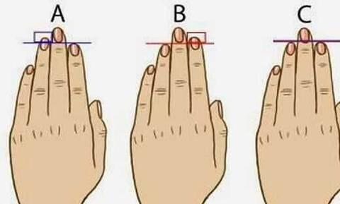 Κοιτάξτε τώρα τα δάχτυλά σας και μάθετε τι μυστικά... «μαρτυρούν» για την προσωπικότητά σας (Photo)