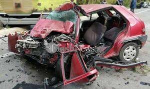 Χανιά: Σοκαριστικό τροχαίο στην Εθνική οδό - Νεκρός ο οδηγός (pics)
