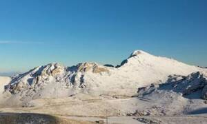 Παρνασσός: Τα πρώτα χιόνια από ψηλά - Δείτε το εκπληκτικό βίντεο