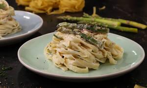 Η συνταγή της ημέρας: Ταλιατέλες με σπαράγγια