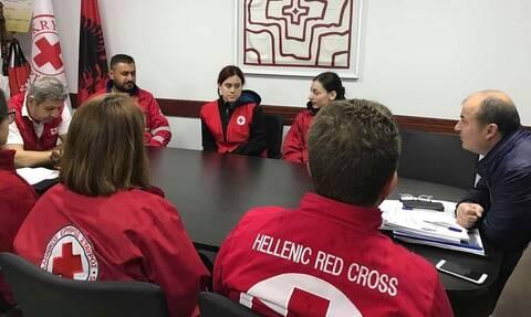 Αποστολή μεγάλης βοήθειας του Ελληνικού Ερυθρού Σταυρού στην Αλβανία