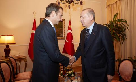 Συνάντηση Μητσοτάκη - Ερντογάν με «ανοιχτά» χαρτιά: «Συμφέρον της Τουρκίας να αναδιπλωθεί»