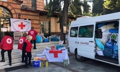 Ελληνικός Ερυθρός Σταυρός: Συγκινητική ανταπόκριση στη συλλογή ειδών πρώτης ανάγκης για την Αλβανία