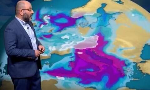 Καιρός - «Καμπανάκι» Αρναούτογλου: Προσοχή! Παγωμένη βροχή στη δυτική Μακεδονία (vid)