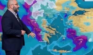 Καιρός: Προσοχή! Επιδείνωση από την Τρίτη και χιονοπτώσεις! Η προειδοποίηση Αρναούτογλου (video)