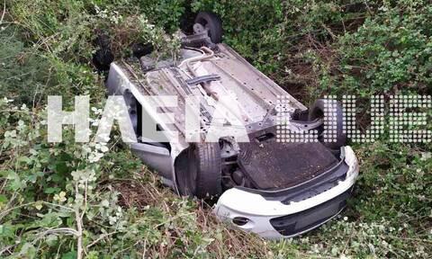 Ηλεία: Εκτροπή αυτοκινήτου με τραυματισμό στην Εθνική οδό Πατρών - Πύργου