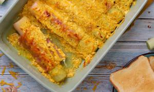 Η συνταγή της ημέρας: Πράσα τυλιχτά με ζαμπόν